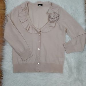 J.Crew Button Down Sweater Size S Merino Wool